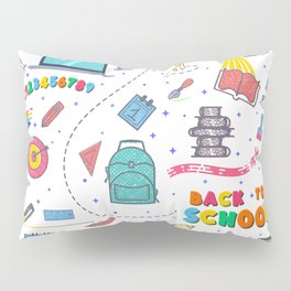 Concept of education seamless pattern Pillow Sham
