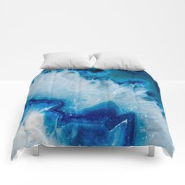 Royally Blue Agate Comforters