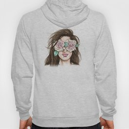 white roses in their eyes (female version) Hoody