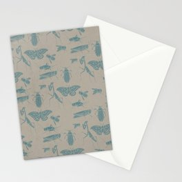 Insectology:  Insect Scatter Botanical Stencil Print Stationery Cards