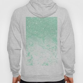 Modern faux mint glitter ombre mint turquoise marble Hoody