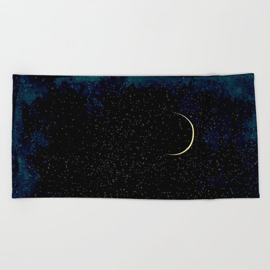 Crescent Moon Beach Towel