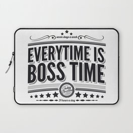 Every time is Boss time (Springsteen tribute) Laptop Sleeve