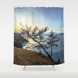 Harsh beauty of lake Baikal Shower Curtain