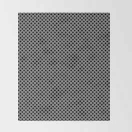 Sharkskin and Black Polka Dots Throw Blanket