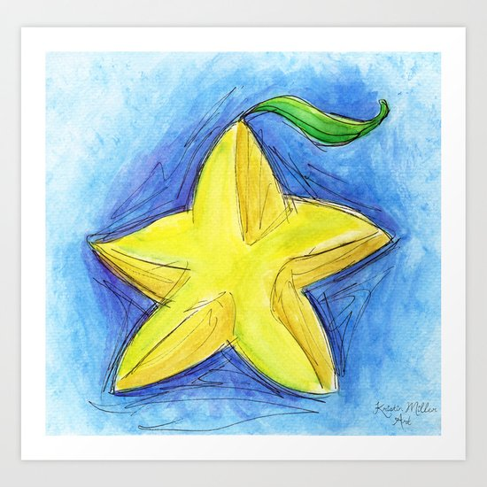 Paopu Fruit Art Print