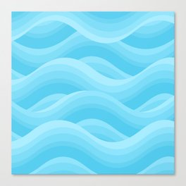 Wavy - Blue Canvas Print