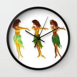 Hula Lessons Wall Clock