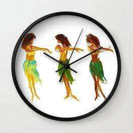 Hula Lessons Wall Clock
