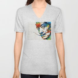 Colorful Dali Art by Sharon Cummings Unisex V-Neck