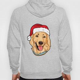 Golden Retriever Dog Christmas Hat Pre4sent Hoody