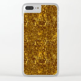 Chunky Antique Gold Glitter Clear iPhone Case