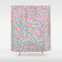 it's raining sideways! rainbow edition Shower Curtain
