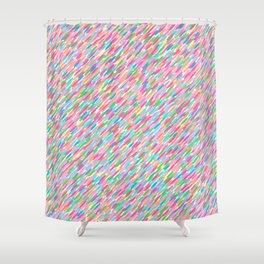 it's raining sideways! rainbow edition Shower Curtain