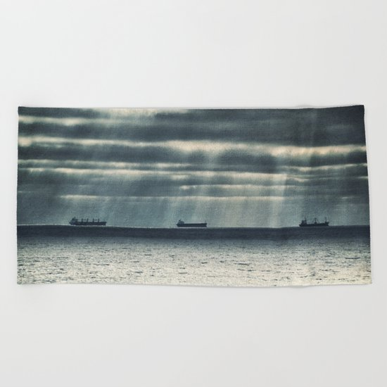 Morning Race Beach Towel