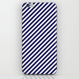 Classic Stripes in Navy + White iPhone Skin
