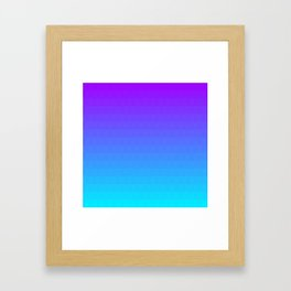 Blue and Purple Ombre - Flipped Framed Art Print