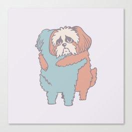 Shih Tzu Hugs Canvas Print