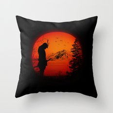 My Love Japan / Samurai warrior Throw Pillow