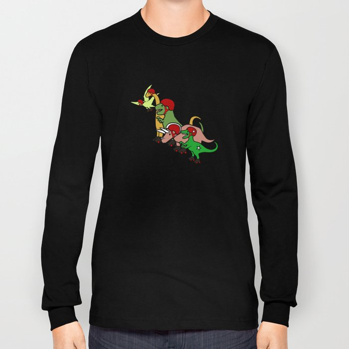 Roller Derby Dinosaurs Long Sleeve T-shirt
