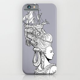 Girl With Ship iPhone Case