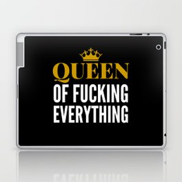 QUEEN OF FUCKING EVERYTHING (BLACK) Laptop & iPad Skin