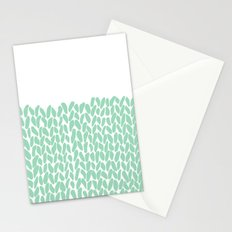 Half Knit Mint Stationery Cards