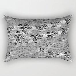 Flowers and Textiles Rectangular Pillow