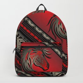 Horse Nation (Red) Backpack