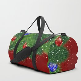 Christmas tree with background Duffle Bag