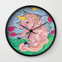 The Shy Unicorn Wall Clock