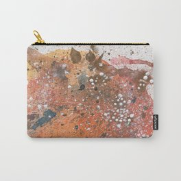 Abstract watercolor artwork. Life series. Orange Carry-All Pouch