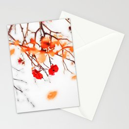 Autumnal leaves watercolor painting #2 Stationery Cards