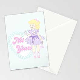Not Yours K-12 Girl Stationery Cards