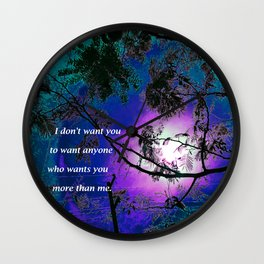 """""""Silk Tree Leaves #7"""" with poem: Retouched Wall Clock"""