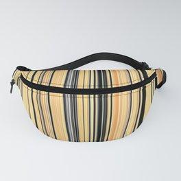 High Society Vintage Yellow Black White Stripes 001 - Corbin Henry Fanny Pack