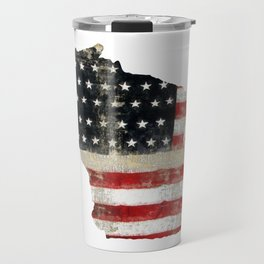 WISCONSIN FLAG Travel Mug