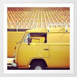 yellow/yellow Art Print