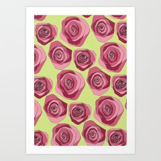 Bright Rose Pattern Art Print