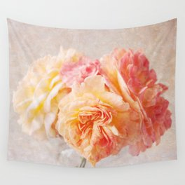 Textured Pastel Rose Wall Tapestry