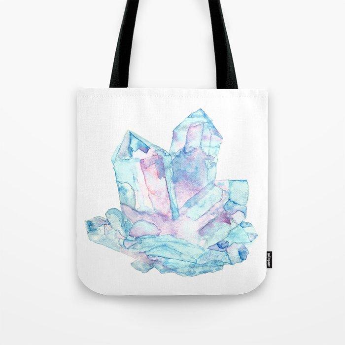 Pink Blue Crystal Cluster Tote Bag