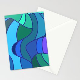Jay Bird Pattern Design Abstract Stationery Cards