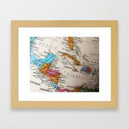 Map Art Framed Art Print