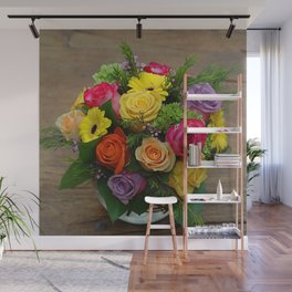 A Touch of Elegance Floral Arrangement Wall Mural