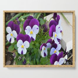 Purple pansy Serving Tray