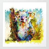 koala Art Prints featuring Koala  by ururuty