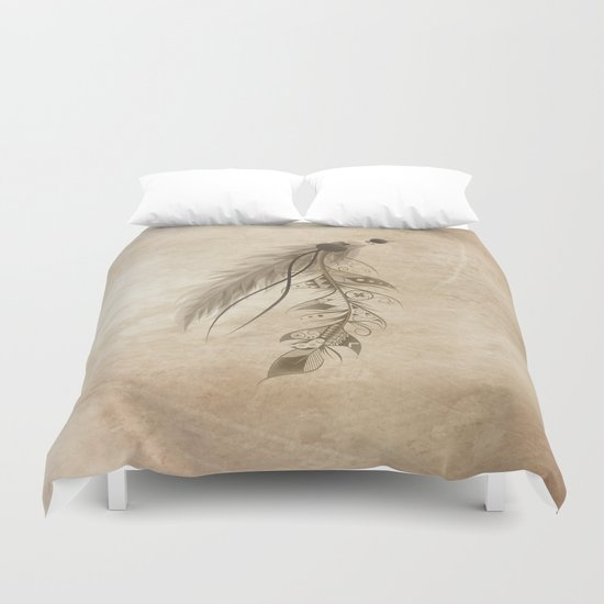 Bohemian Feather Duvet Cover