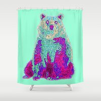 knit Shower Curtains featuring Bear Knit by Samuel Charrois
