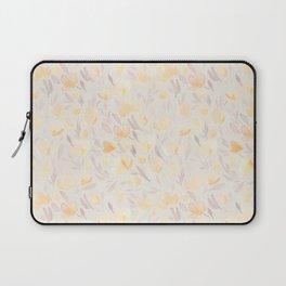 Floral watercolor orange pattern 2 Laptop Sleeve