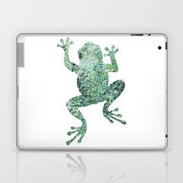 green lichen crawling frog silhouette Laptop & iPad Skin